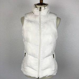 Banana Republic White Puffer Vest